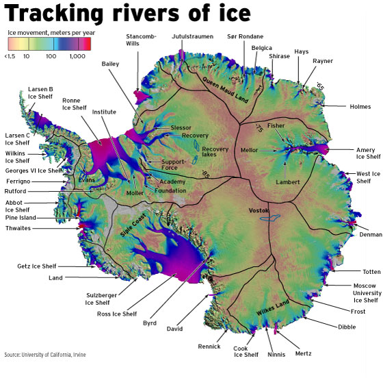 Rivers of Ice Antarctica