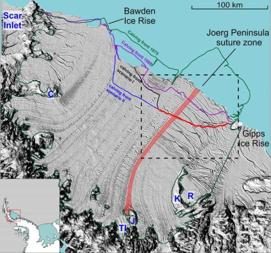 Section of Larsen C vulnerable to break-up