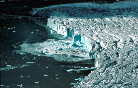 Angry Waters Calving Glacier Front