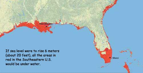 NASA six meter sea level rise SE
