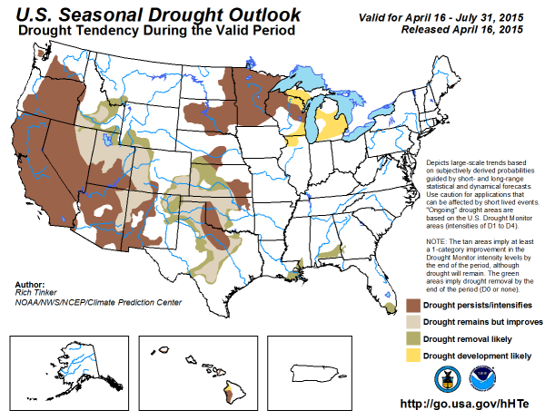 US Drought outlook
