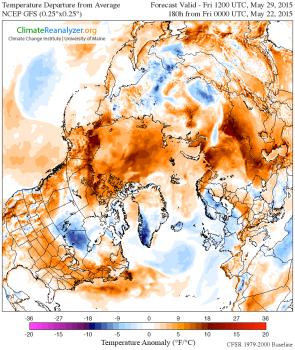 Air Temperature Anomaly Arctic