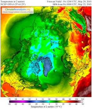 Air Temperature Arctic May 29