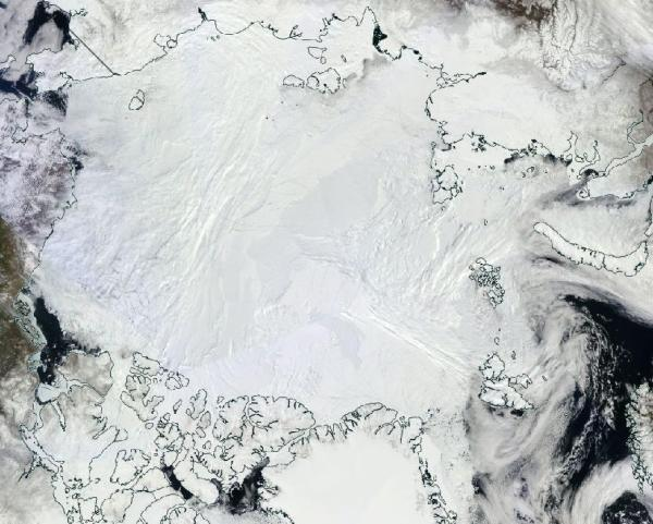 Arctic ice visual May 22