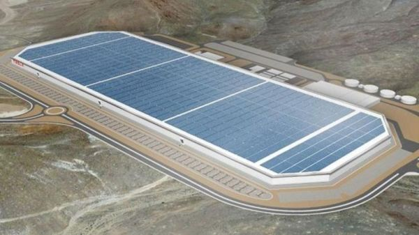 Rendering of Tesla Gigafactory
