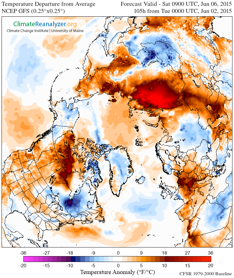 Arctic Heatwave June 6. Arctic Heatwave Forecast to Crush Northern Hemisphere Snow Cover