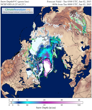 Current snow Cover