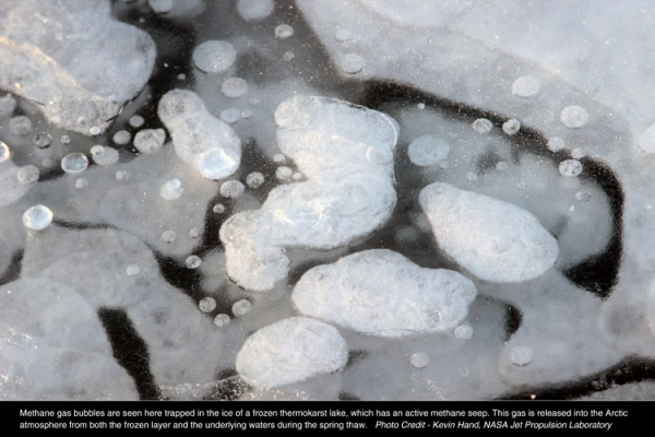 Methane Bubbles in Thermokarst Lake