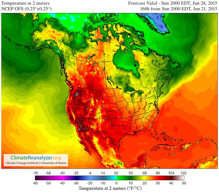 West Coast Heatwave Saturday