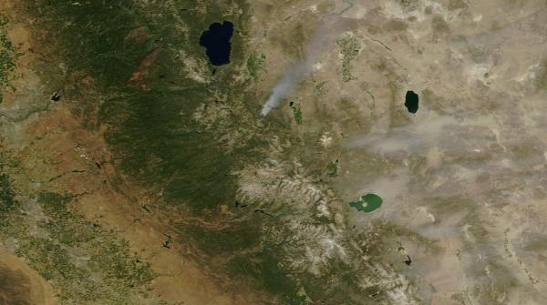Wildfire nonexistent snowpack