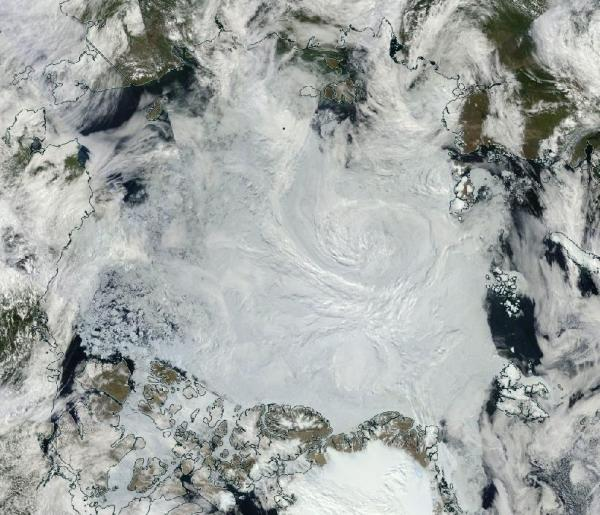 Arctic Sea Ice in ragged condition during mid July