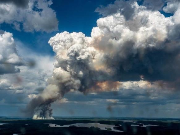 Bog fire in Canada