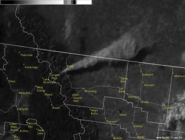Glacier National Park Smoke plume
