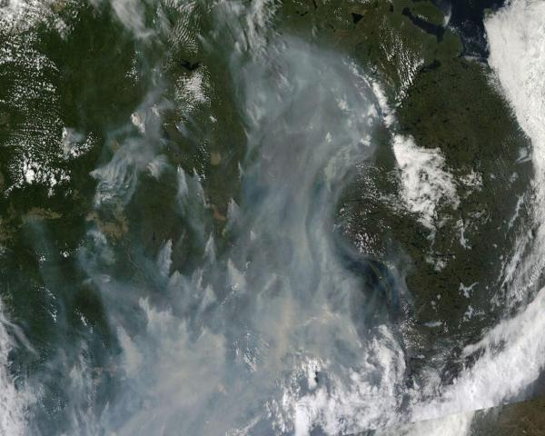 Massive Canadian Wildfire Outbreak June 29