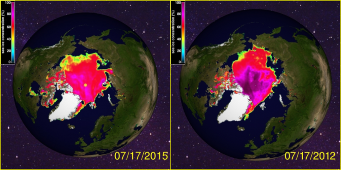Sea Ice Concentration Crysphere Totally Nuts