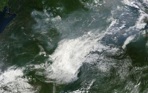 Vast burning in Eastern Siberia