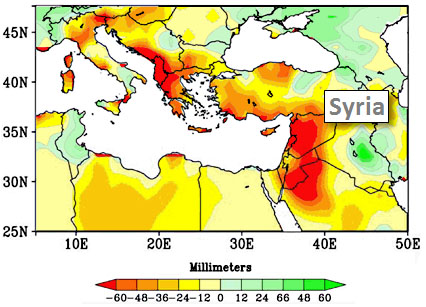 NOAA Syria worst drought on record