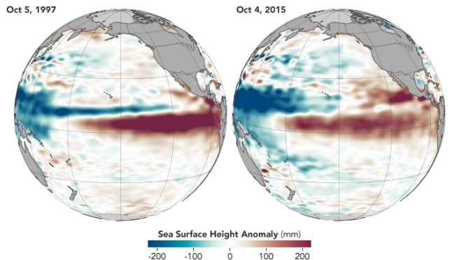 Sea surface height anomalies