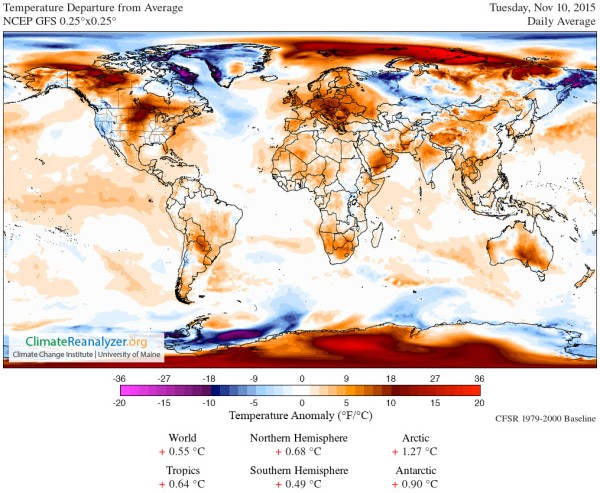 Atmospheric temperature anomalies