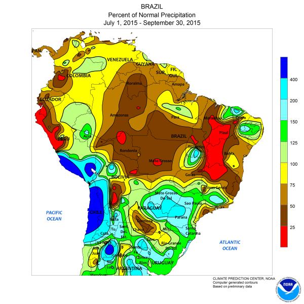 Brazil Drought NOAA El Nino