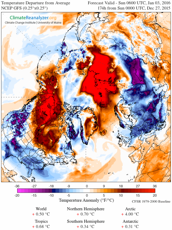 Arctic temp anomaly +4 C