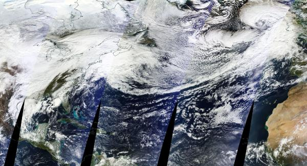 Extreme weather on both sides of the Atlantic
