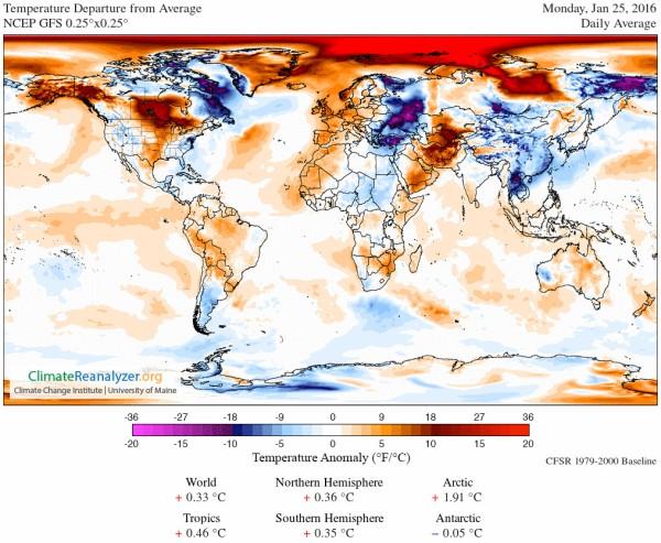 Arctic Heatwave, Southeast Asian Chill