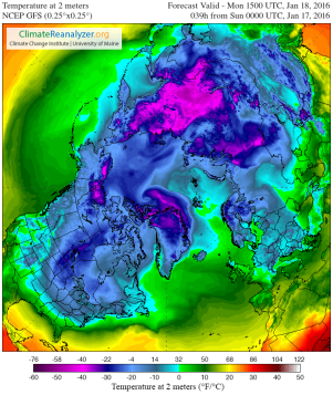 Greenland warm up temperature
