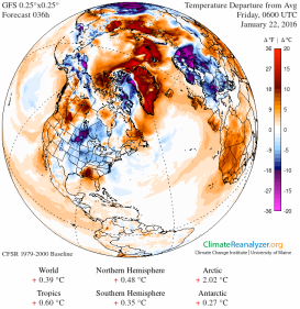 Hot Arctic, Cold, Stormy Eastern US