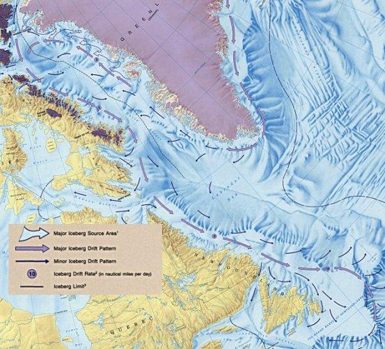 major iceburg drift patterns