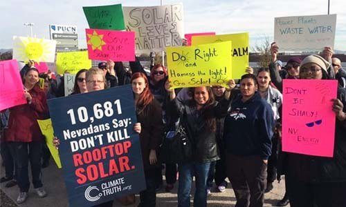 Nevada Pro Solar Protesters