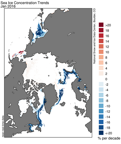 Arctic Sea Ice Concentration January
