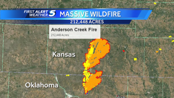 Anderson Creek Wildfire Enormous Footprint