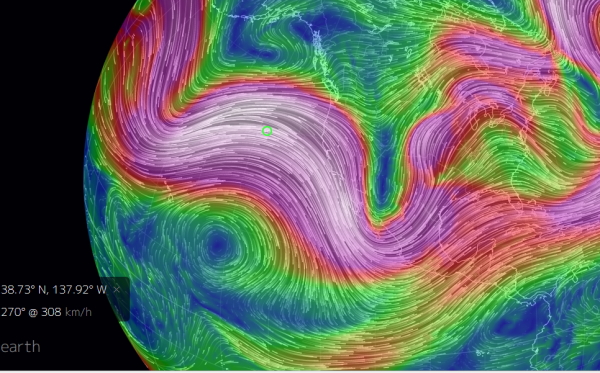 Huge Dip in the Jet Stream March 8
