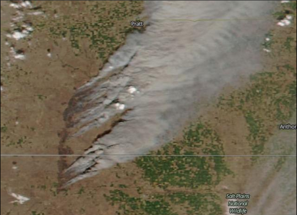 Kansas Oklahoma Wildfire March 2016