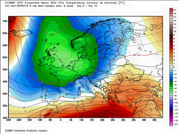 Deep Trough Predicted for Europe