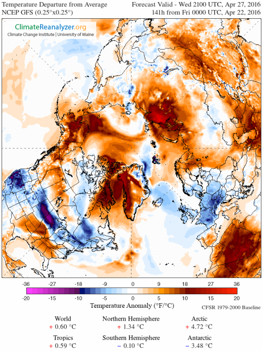 Extreme Springtime warming in the Arctic