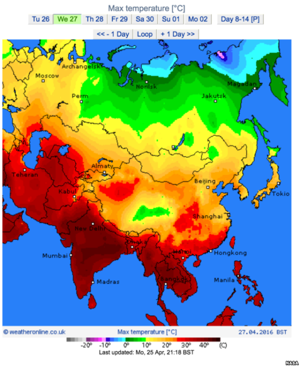 Record Asian Heatwave