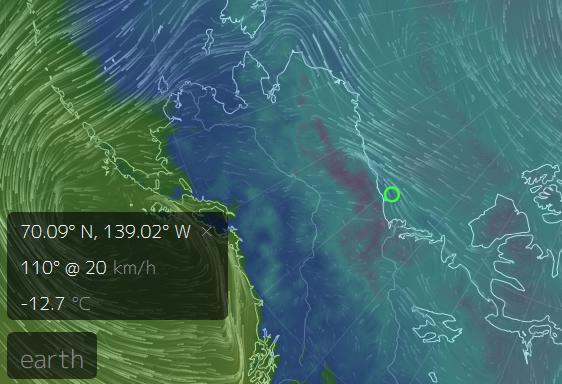 Warmer Arctic Ocean Cooler Land
