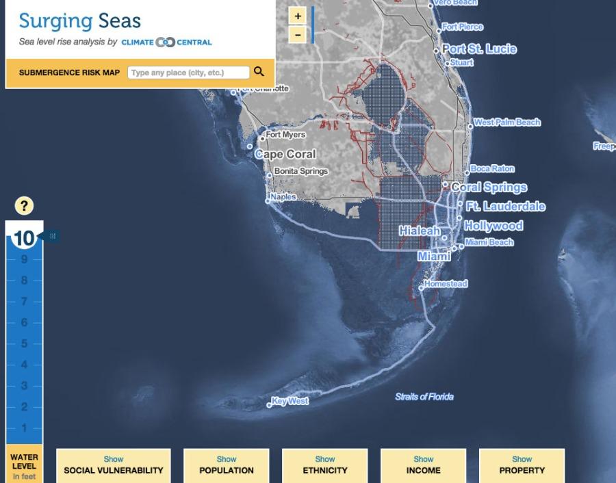 10 feet of sea level rise south florida | robertscribbler