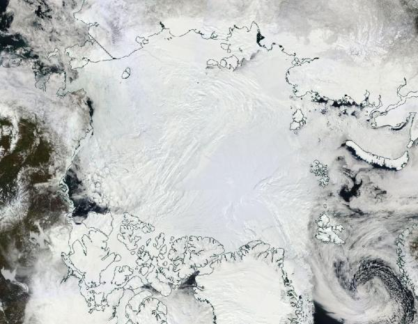 Arctic sea ice May 12 2016