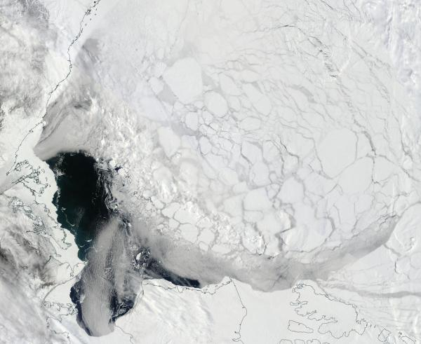 Beaufort Sea Ice Shattered