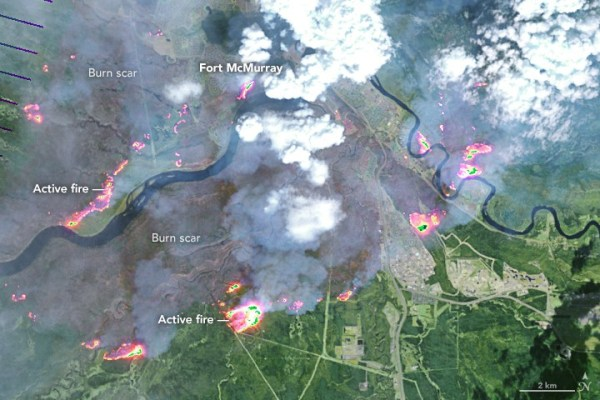 Fort McMurray fire map May 5
