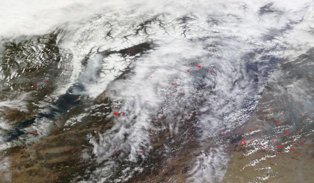 Lake Baikal Fires Ignite