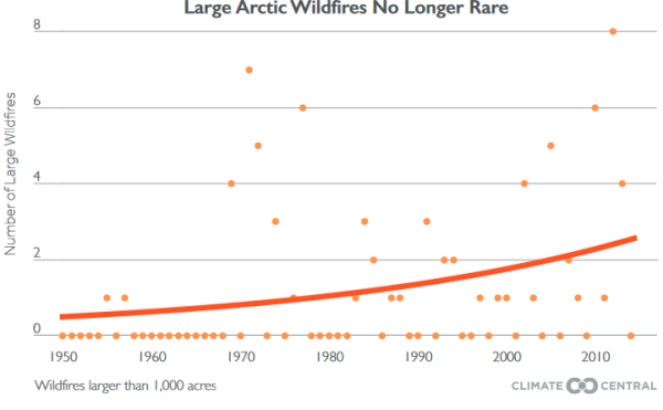 Large Arctic Wildfires are No Longer Rare