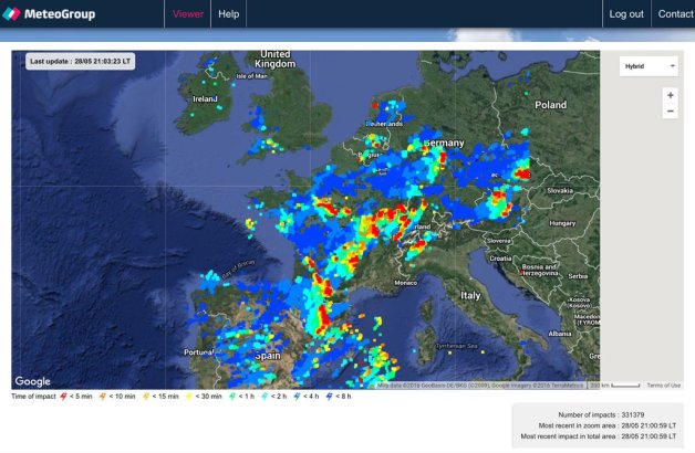 More Than 330,000 Lightning Strikes Hit Europe in Just Eight Hours Lightning-strikes-europe