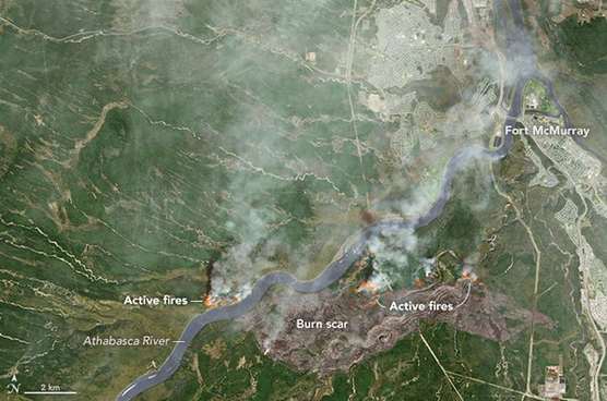 NASA Shot of Fort McMurray Fire