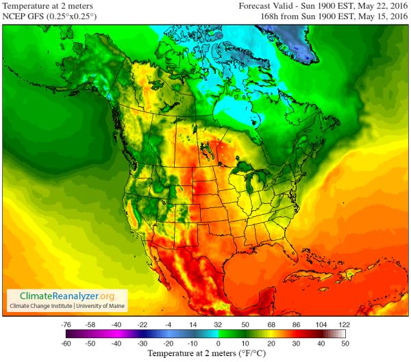 North America weather forecast