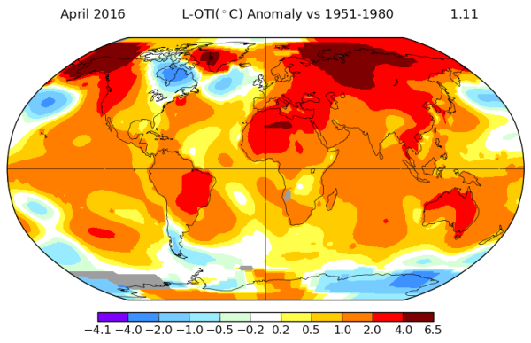 Record Global Heat April