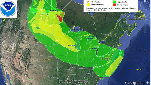 Smoke plume from Fort McMurray Fire Reaches US East Coast